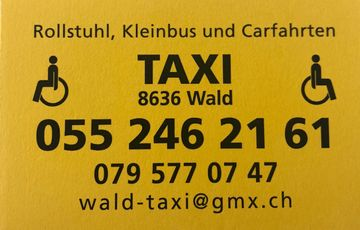 Cartransport - Wald ZH - Wald Taxi